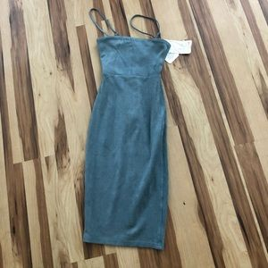 oh polly teal suede dress size UK 4/ US 0
